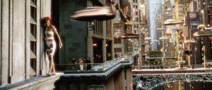 Prod DB © Columbia-Gaumont / DR LE CINQUIEME ELEMENT (THE FIFTH ELEMENT) de Luc Besson 1997 FRA USA avec Mila Jovovich science-fiction, futuriste, extra terrestre, creature, portrait, cheveux rouges, ville du futur, suicide