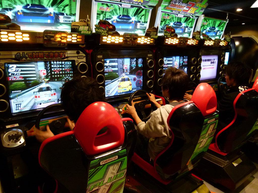 Salle d'arcade au Japon